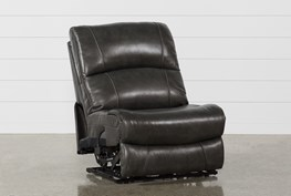 Travis Dark Grey Leather Armless Power Recliner