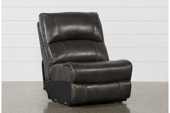 Travis Dark Grey Leather Armless Chair