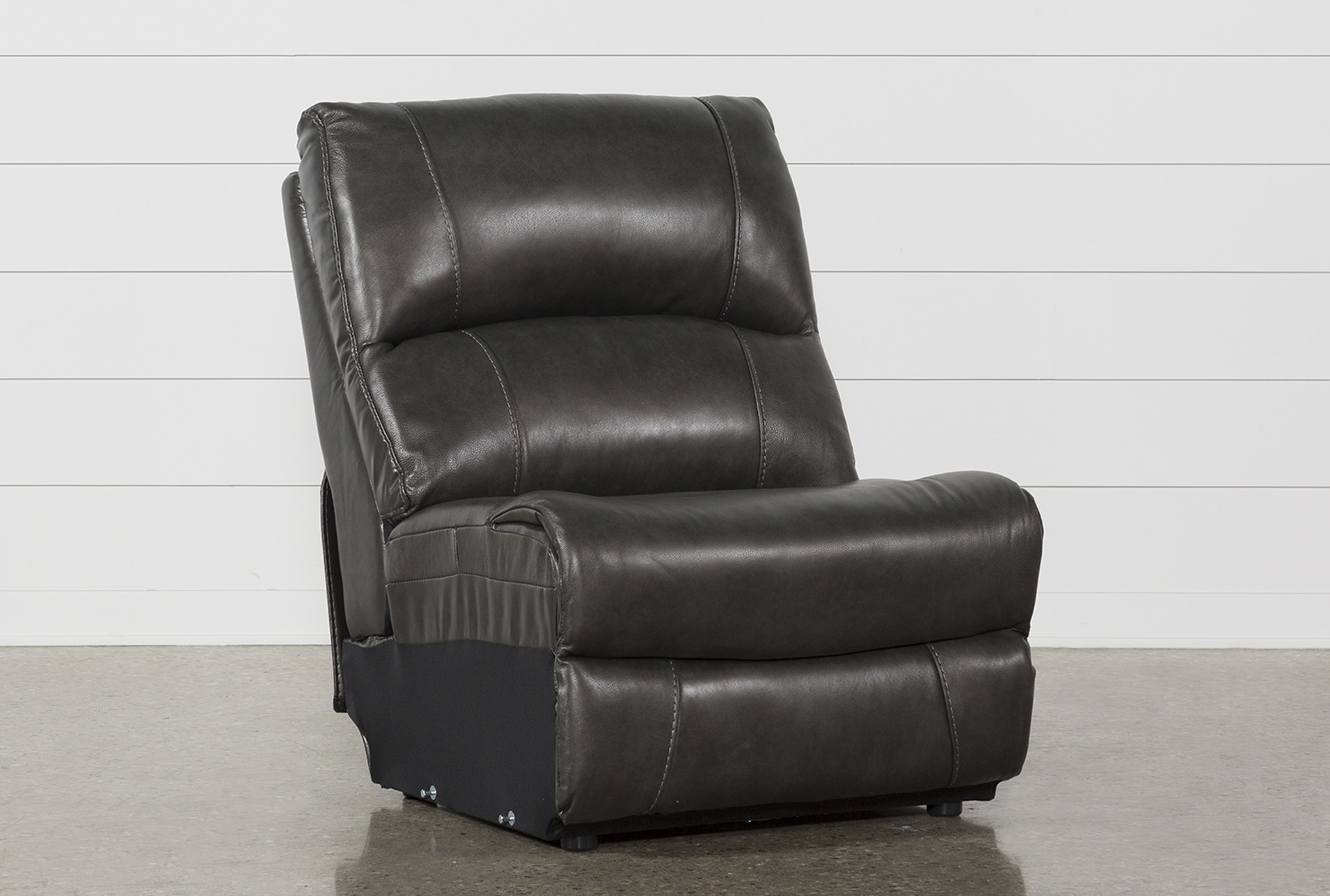 Travis Dark Grey Leather Armless Chair (Qty: 1) Has Been Successfully Added  To Your Cart.