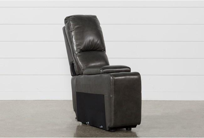 Travis Dark Grey Leather Console W/Usb - 360