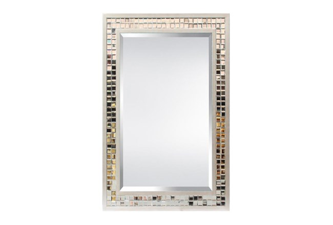 Mirror-Glass Tile And Silver Border 33X45 - 360
