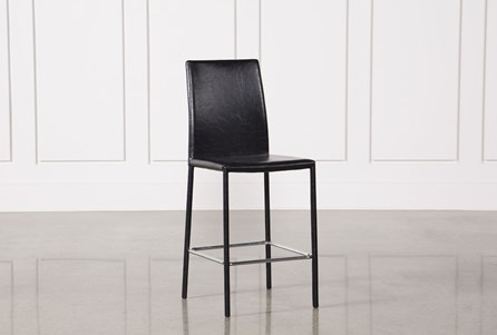 Hayden II Black 26 Inch Counter Stool