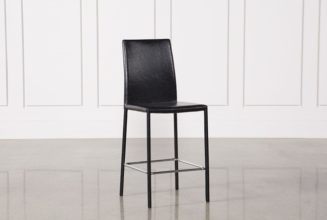Hayden II Black 26 Inch Counter Stool - 360
