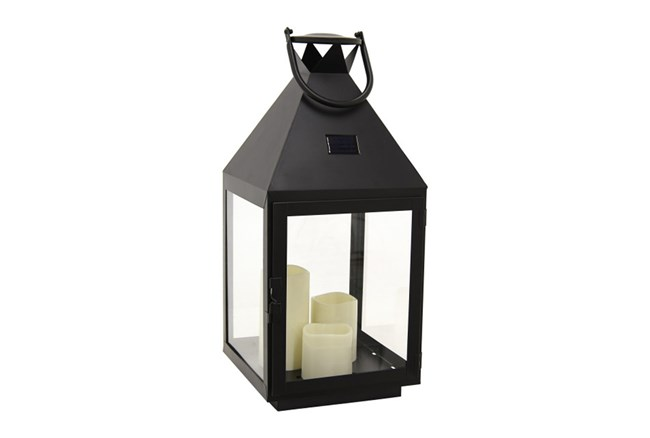 22 Inch Metal Lantern With Led Candle - 360