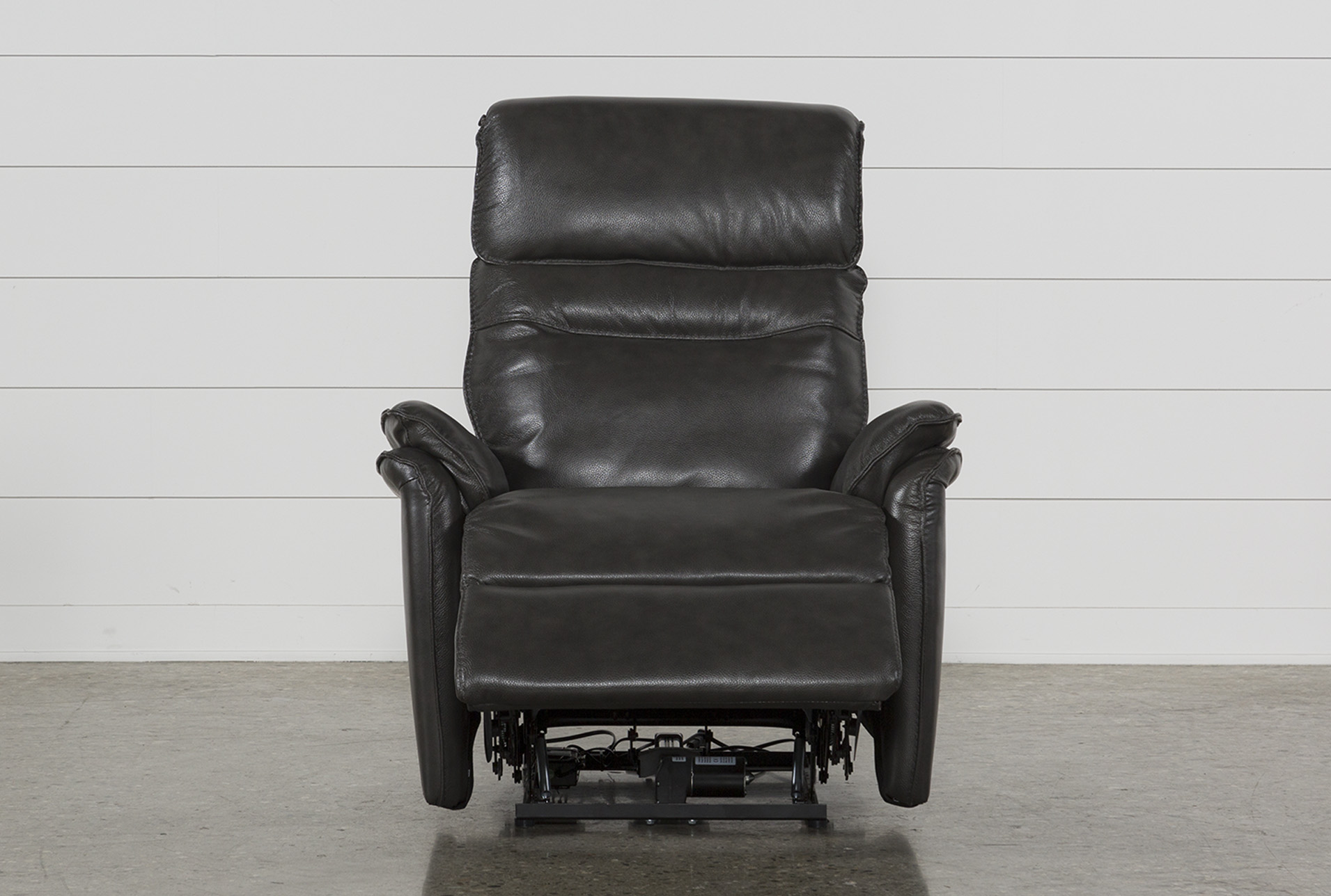 Laird Dark Grey Power Wallaway Recliner W Adjustable Headrest