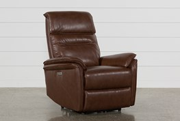 Laird Brown Power Wallaway Recliner W/ Adjustable Headrest