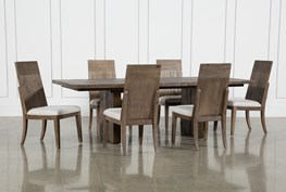 Lassen 7 Piece Extension Rectangle Dining Set