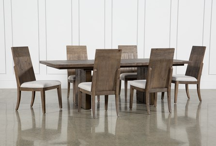 Lassen 7 Piece Extension Rectangle Dining Set