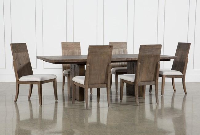 Lassen 7 Piece Extension Rectangle Dining Set - 360