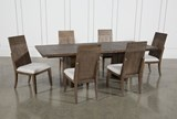 Lassen 7 Piece Extension Rectangle Dining Set - Front