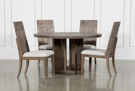 Lassen 5 Piece Round Dining Set