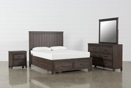 Hendricks 4 Piece Eastern King Bedroom Set