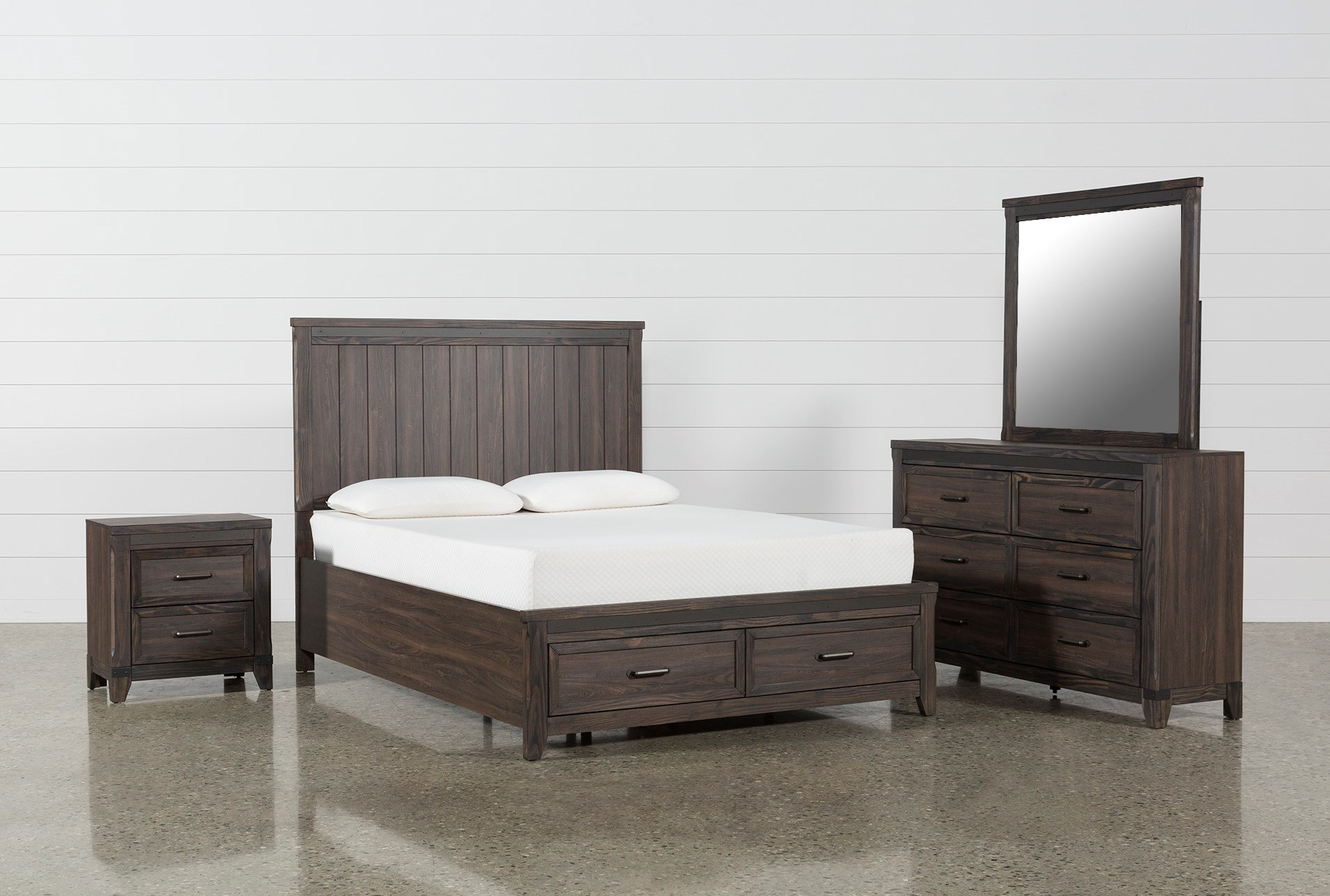 hendricks 4 piece queen bedroom set qty 1 has been successfully added to your cart - Platform Bedroom Sets