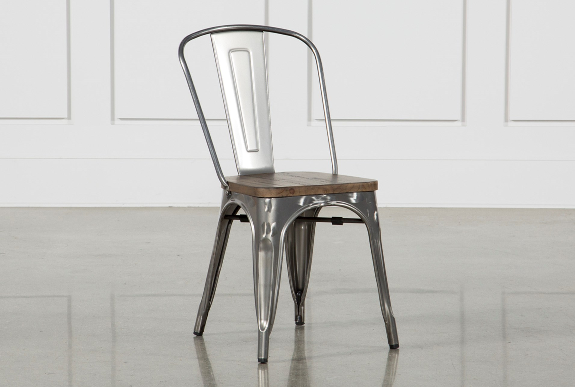 Burton metal side chair with wooden seat living spaces large view reviewsmspy