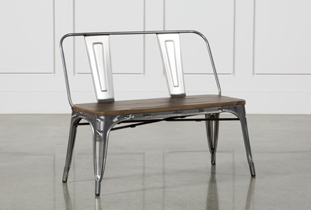 Burton Metal Bench With Wooden Seat