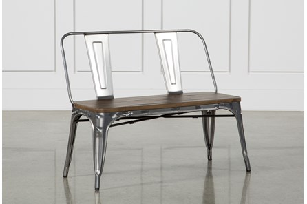 Burton Metal Bench With Wooden Seat - Main