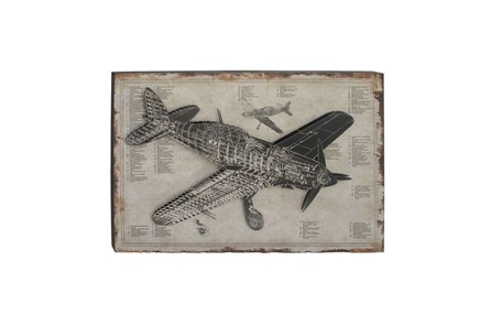 Picture-Aviation Wood Wall Art 47X31