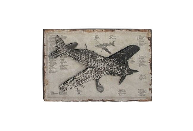 Picture-Aviation Wood Wall Art 47X31 - 360