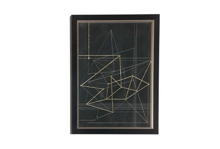 Picture-Black And Gold Framed Geometrics 23X31