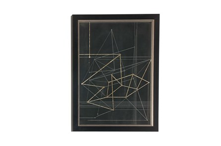 Picture-Black And Gold Framed Geometrics 23X31 - Main
