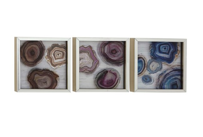 Picture-Framed Agates Assorted Colors 17X17 | Living Spaces