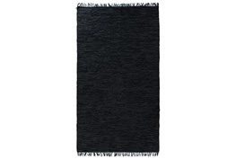 99X123 Rug-Charcoal Handwoven Leather