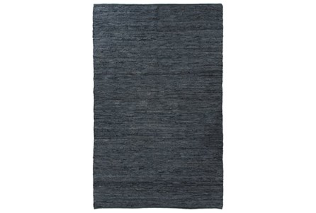 58X97 Rug-Slate Handwoven Leather