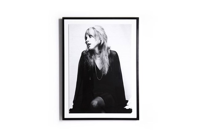 Picture-Stevie Nicks With Black Maple Frame 30X40 | Living Spaces