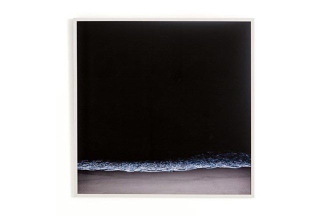Picture-Dark Beach With White Maple Frame 18X18 - 360