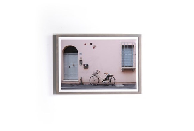 Picture-Blush Wall With Grey Maple Frame 28X20 | Living Spaces