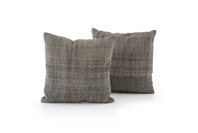 Accent Pillow-Faded Black Partial Print 20X20 Set Of 2 - 360
