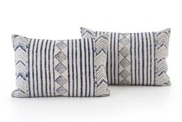 Accent Pillow-Faded Denim Diamond 16X24 Set Of 2