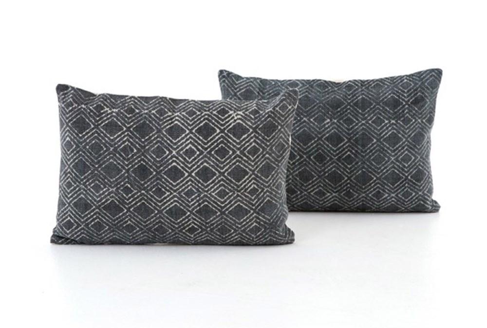 Accent Pillow-Faded Black Diamond 16X24 Set Of 2