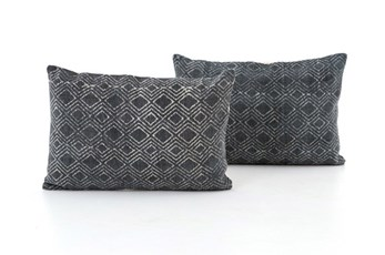 Accent Pillow-Faded Black Diamond 16X24 Set Of 2