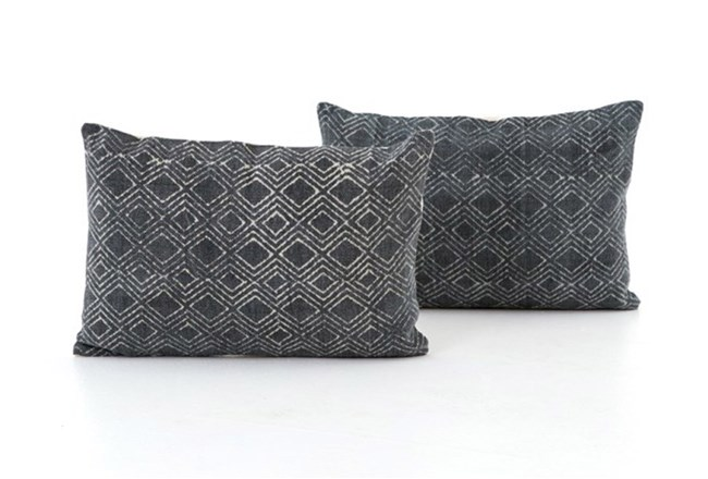 Accent Pillow-Faded Black Diamond 16X24 Set Of 2 - 360