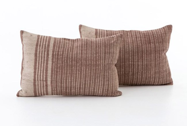 Accent Pillow-Faded Rust Stripe 16X24 Set Of 2 - 360