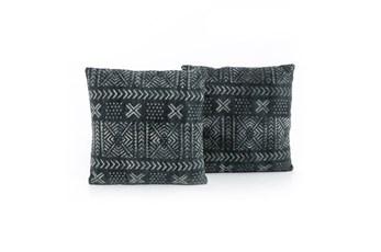 Accent Pillow-Mud Cloth Print 20X20 Set Of 2