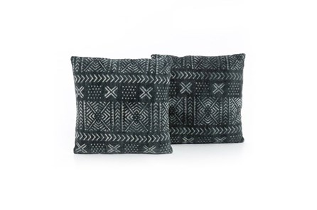 Accent Pillow-Mud Cloth Print 20X20 Set Of 2 - Main