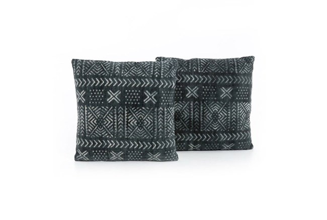 Accent Pillow-Mud Cloth Print 20X20 Set Of 2 - 360