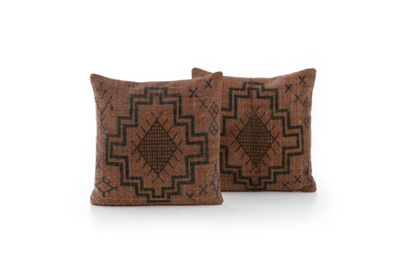 Accent Pillow-Faded Rust Tribal 20X20 Set Of 2