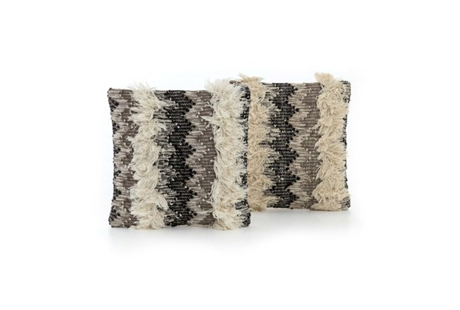 Accent Pillow-Multi Fringe 18X18 Set Of 2 - 360