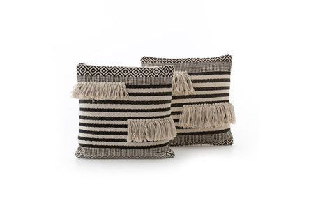 Accent Pillow-Split Fringe 18X18 Set Of 2