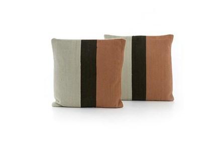 Accent Pillow-Rust Block Stripe 20X20 Set Of 2 - Main