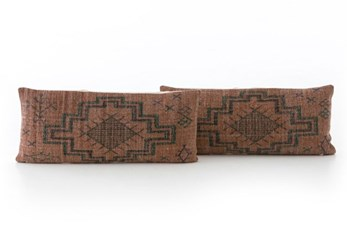 Accent Pillow-Faded Rust Tribal 12X28 Set Of 2