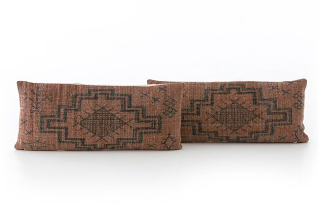 Accent Pillow-Faded Rust Tribal 12X28 Set Of 2 - 360