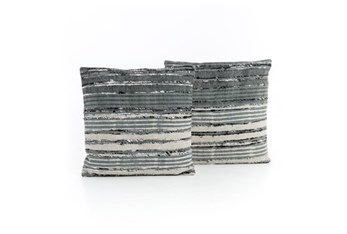 Accent Pillow-Silk Ribbon 20X20 Set Of 2