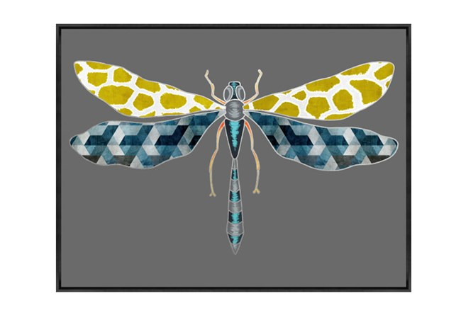 Picture-30X22 Luxe Dragonfly Gold - 360
