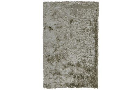 60X96 Rug-Burnout Sheen Shag Silver