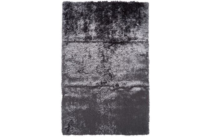 60X96 Rug-Burnout Sheen Shag Slate - 360