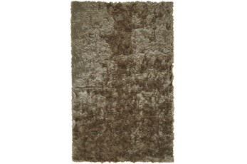 60X96 Rug-Burnout Sheen Shag Taupe